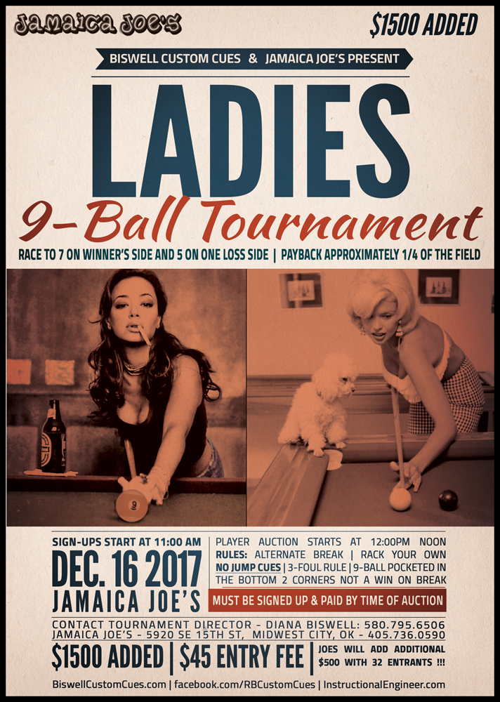 Ladies 9-Ball Tournament Midwest City, Oklahoma